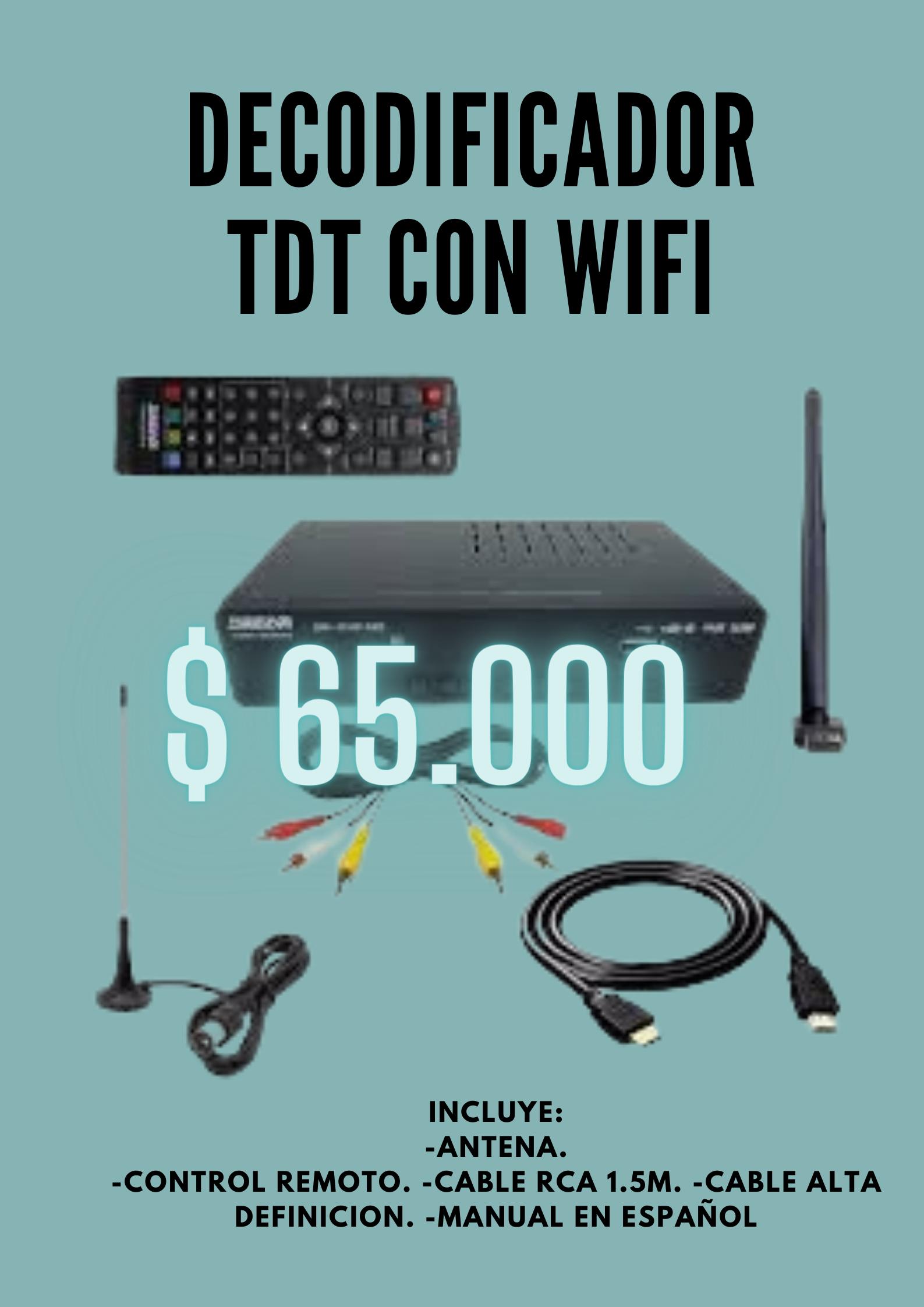 Decodificador TDT con WIFI
